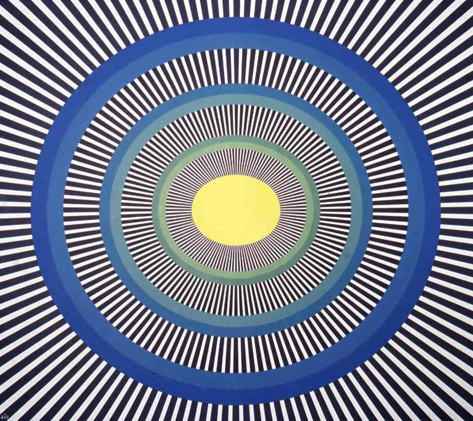 Картинка с движущимися кругами