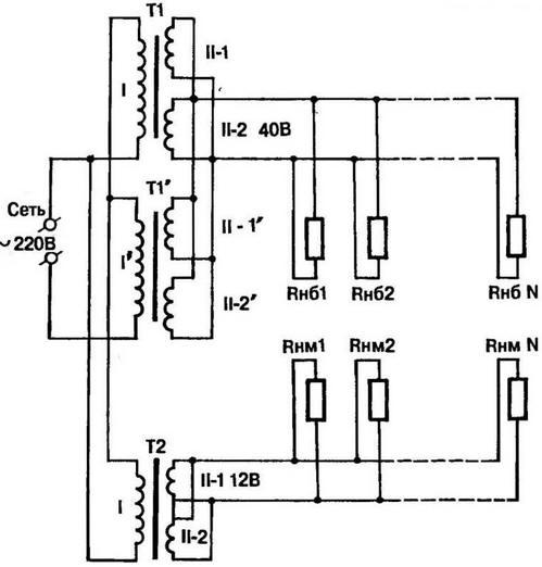 электрическая схема СКВУ