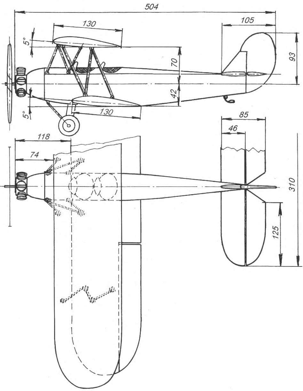 схема самолёта из пинопласа