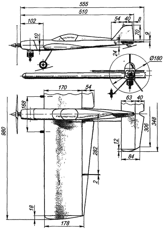 Как сделать самолет чертежи из дерева