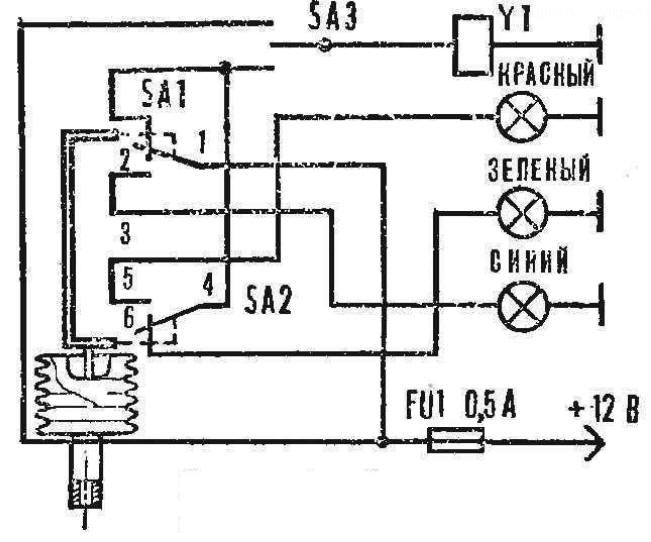 Схема системы с датчиком на