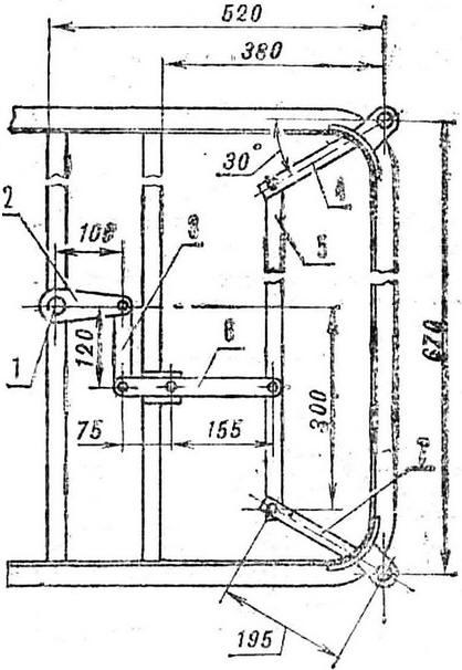 Схема рулевого управления: 1