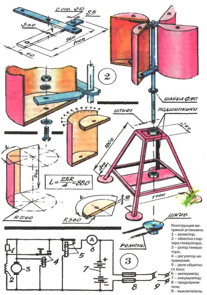 Ветрогенератор из ведра