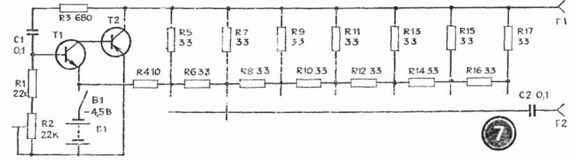 Разновидности одной схемы (несимметричный мультивибратор) .