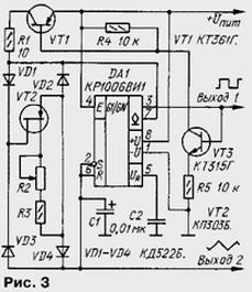 Схема ограничения тока на транзисторе фото 514