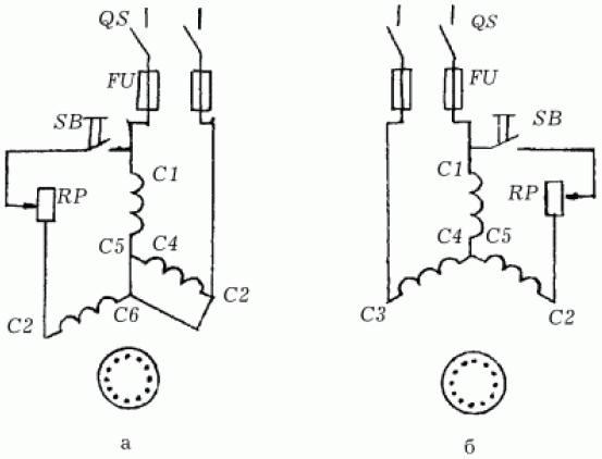 Подключение трехфазного двигателя к однофазной сети.