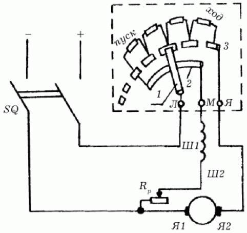 схема подключение электродвигателя.