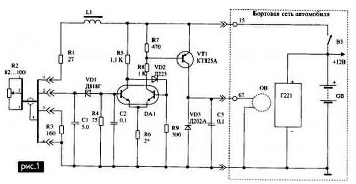 Простая схема электронного регулятора напряжения, который можно устанавливать на автомобиль с генератором переменного...
