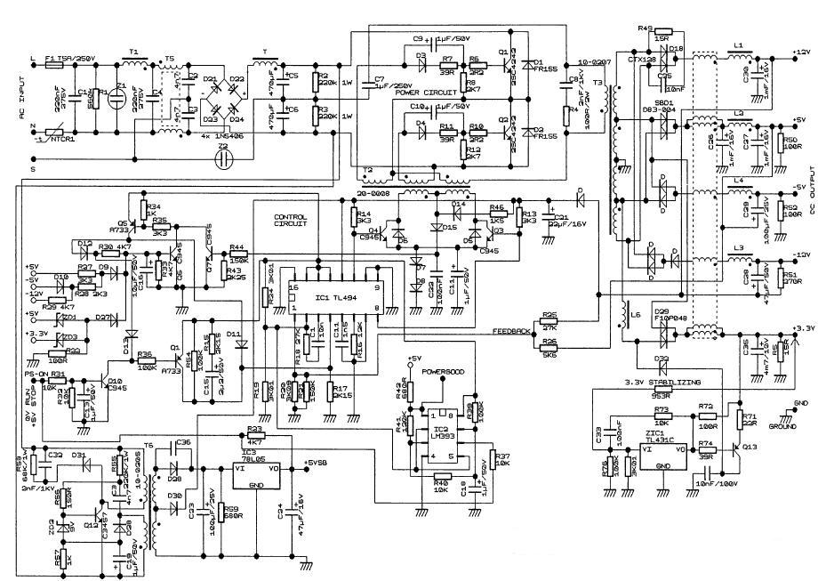 Схему Бп Компьютера Модель Ap-3-1