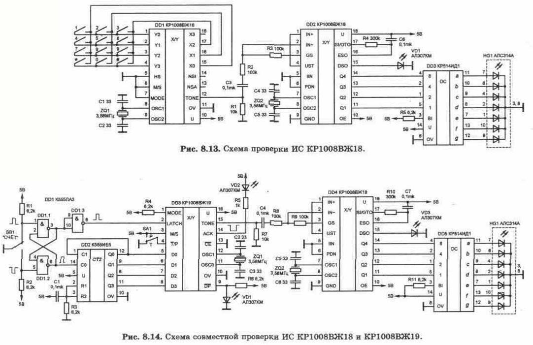 Микросхемы КР1008ВЖ18 и