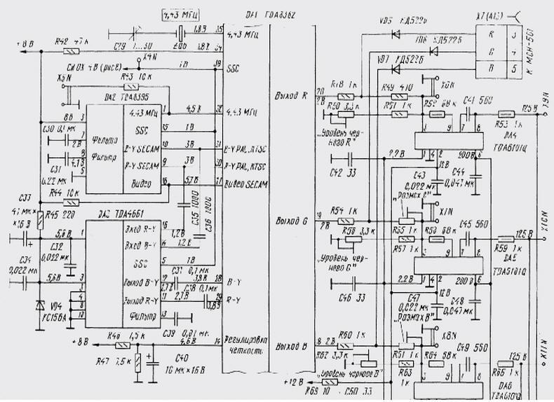 Микросхема TDA8362 в 3УСЦТ и