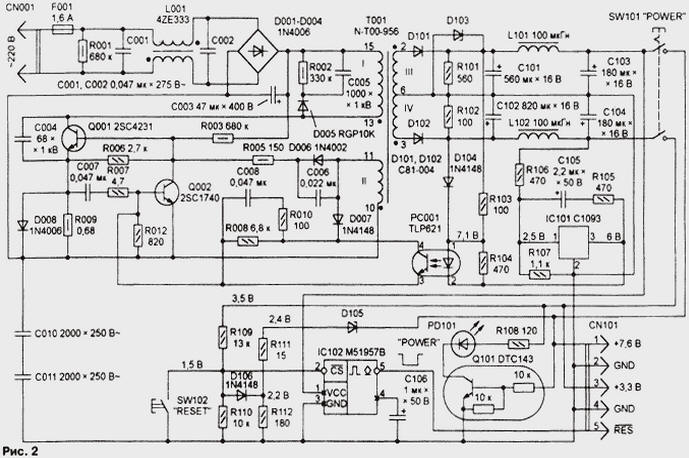 Схема sony playstation 2